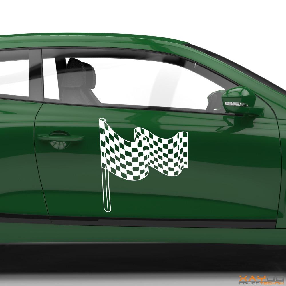 Autoaufkleber Rennflagge 048