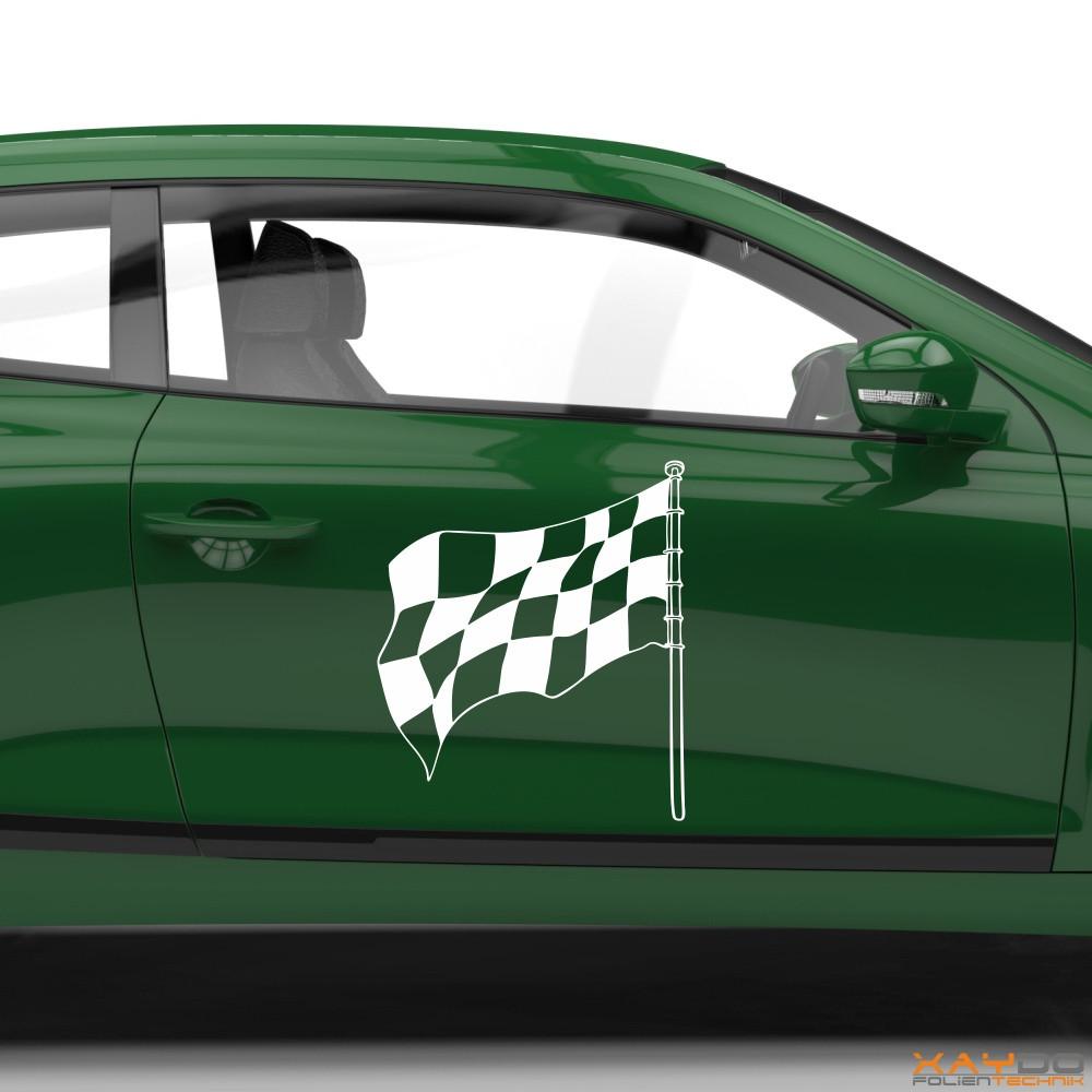 Autoaufkleber Rennflagge 053
