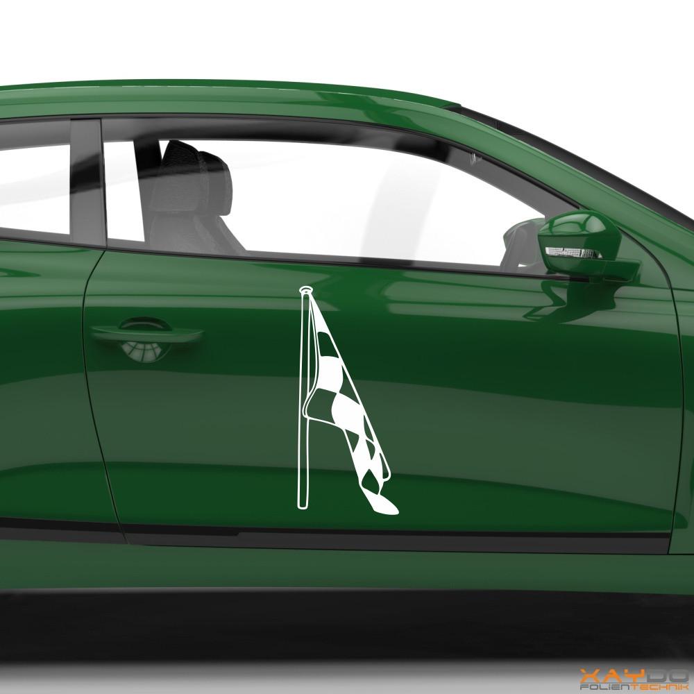 Autoaufkleber Rennflagge 054