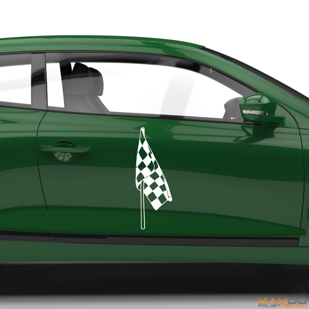Autoaufkleber Rennflagge 055
