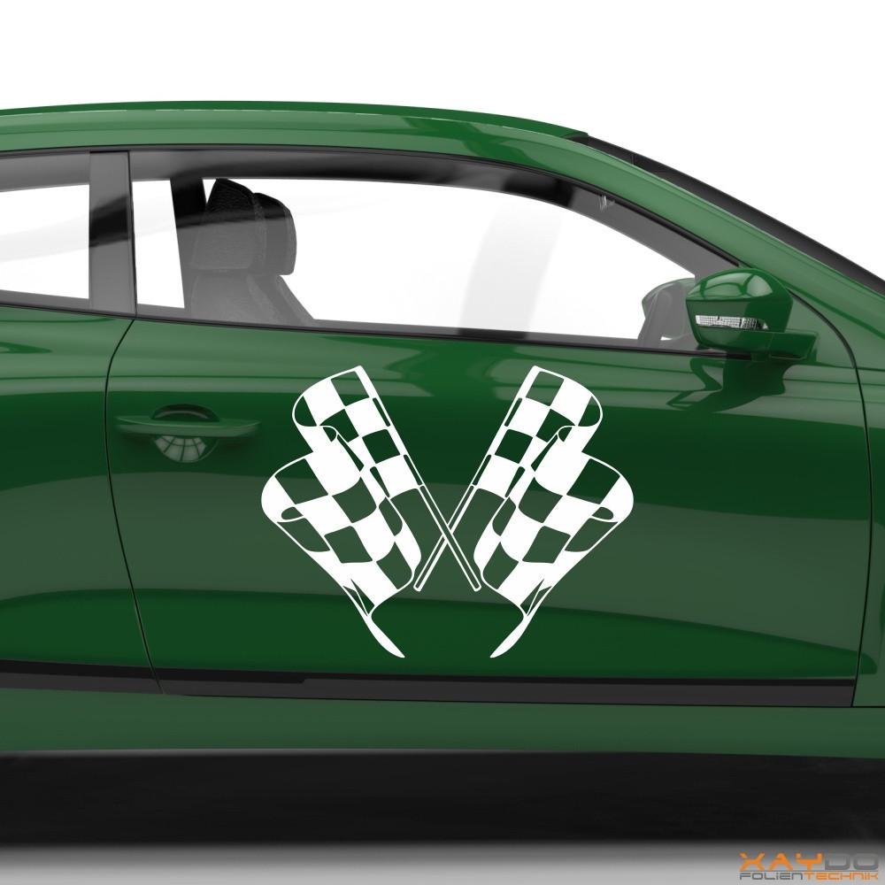 Autoaufkleber Rennflagge 057