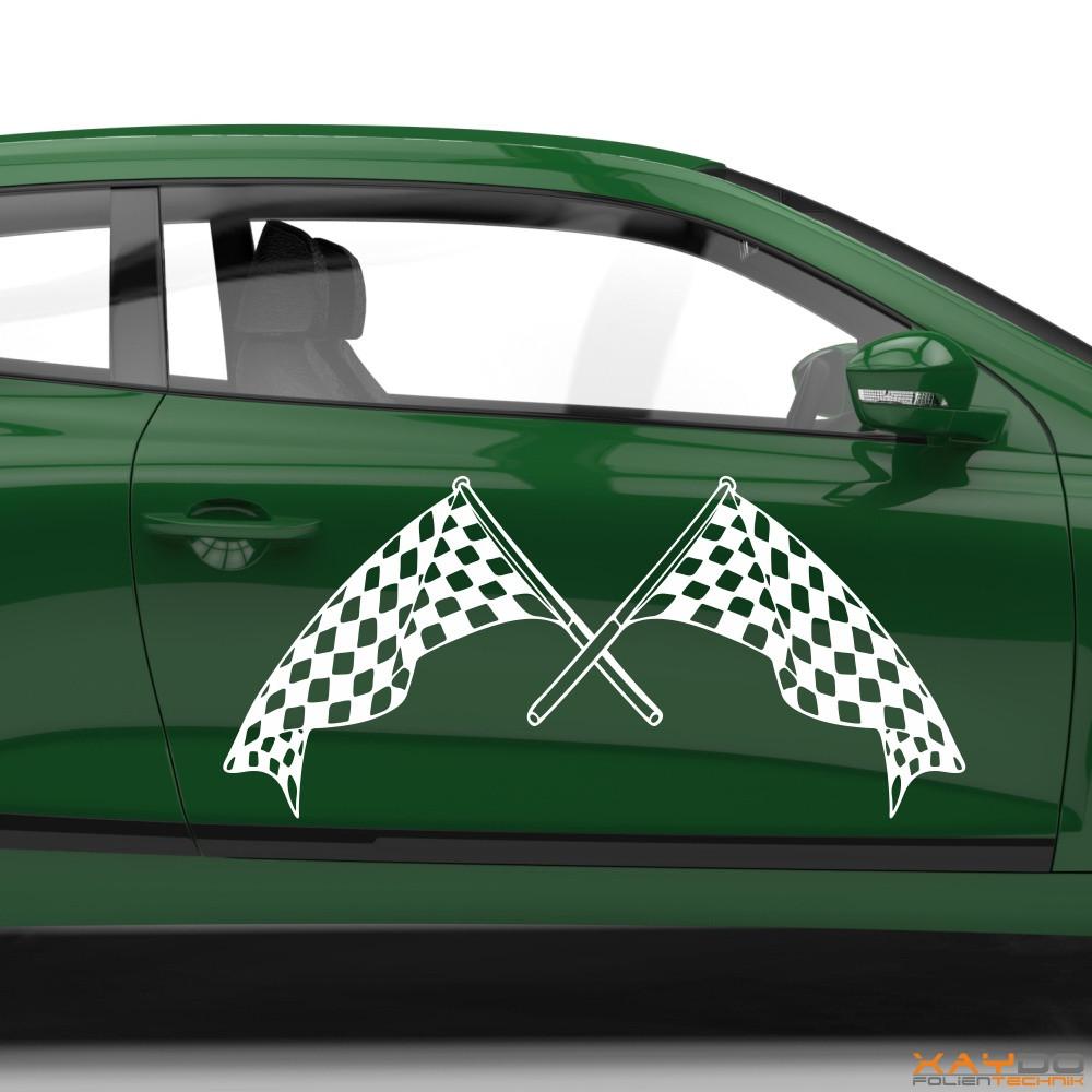 Autoaufkleber Rennflagge 058