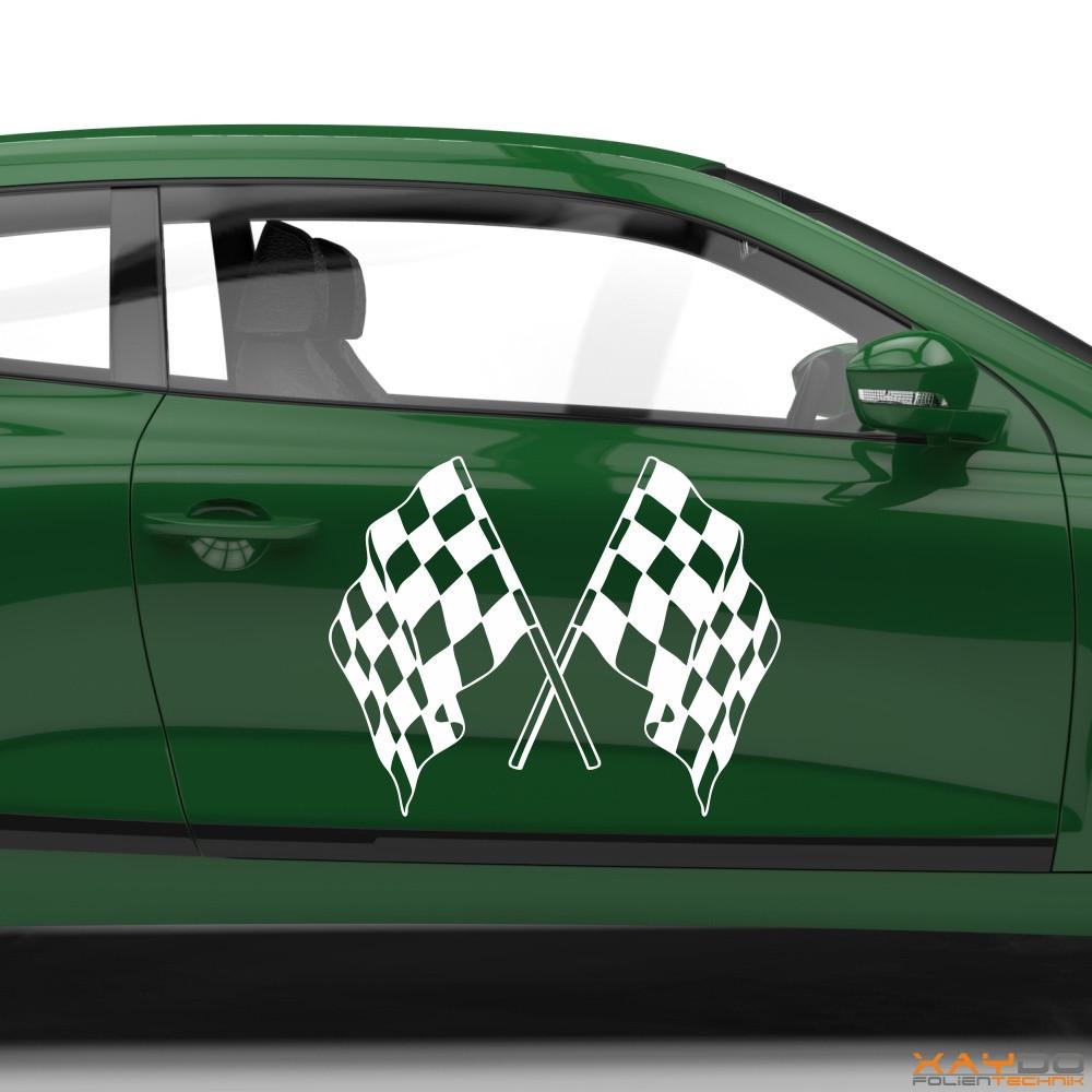 Autoaufkleber Rennflagge 059
