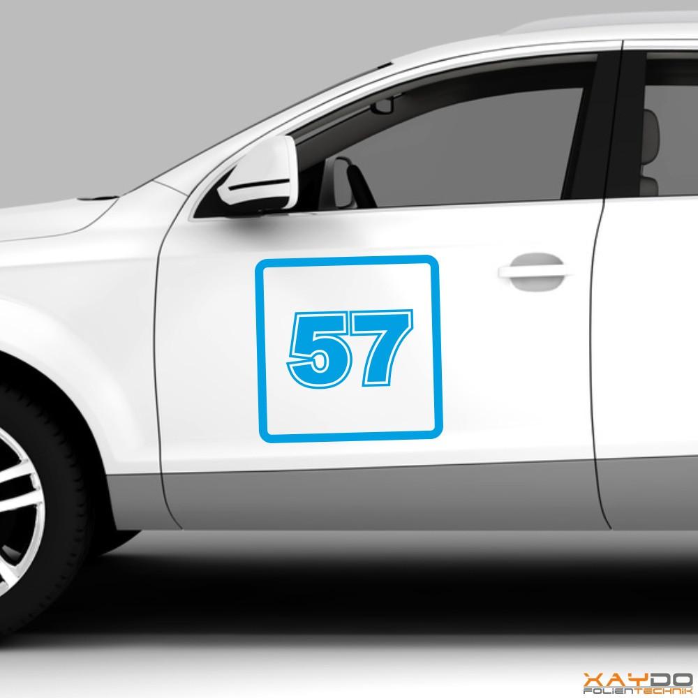 """Autoaufkleber Rennnummer """"GT A"""""""