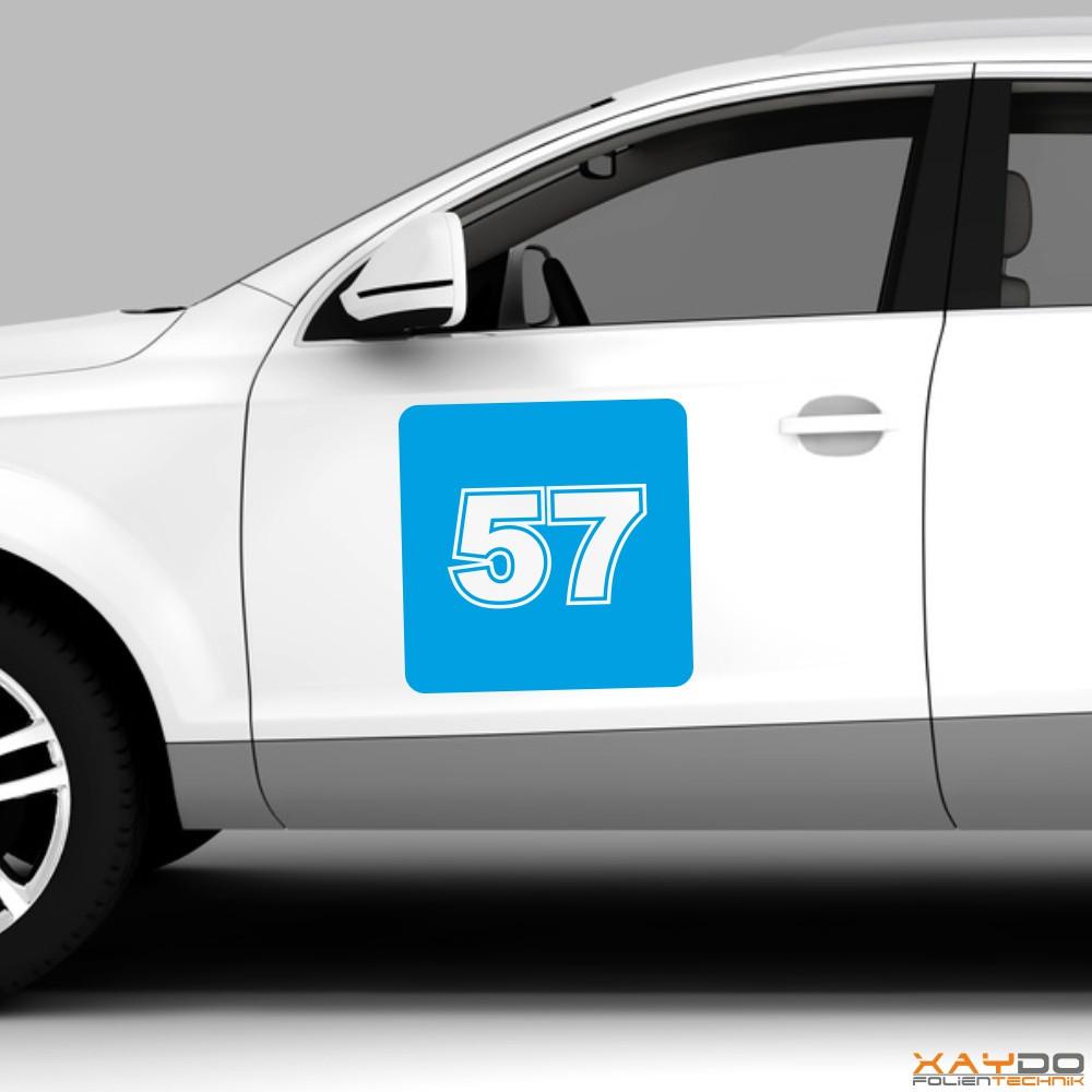 """Autoaufkleber Rennnummer """"GT B"""""""