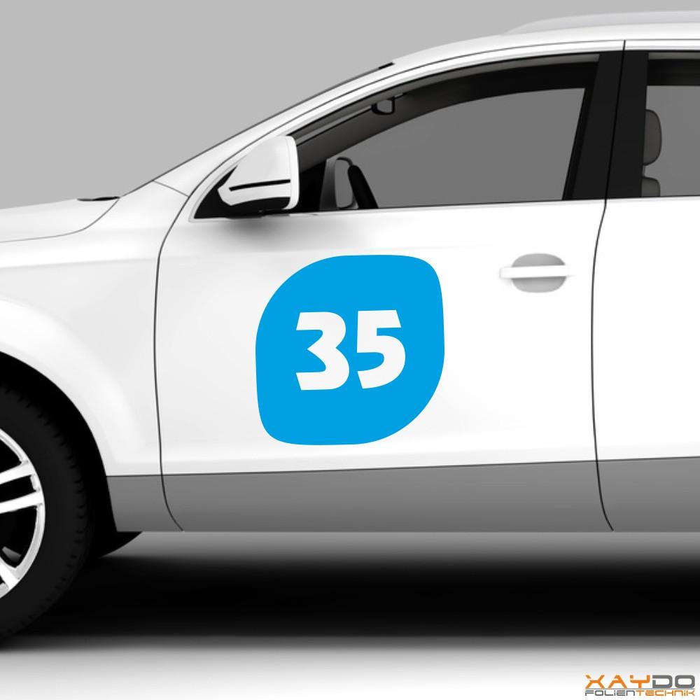 """Autoaufkleber Rennnummer """"Race C"""""""