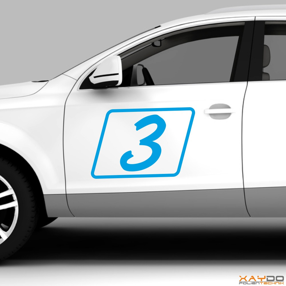 """Autoaufkleber Rennnummer """"Rally A"""""""