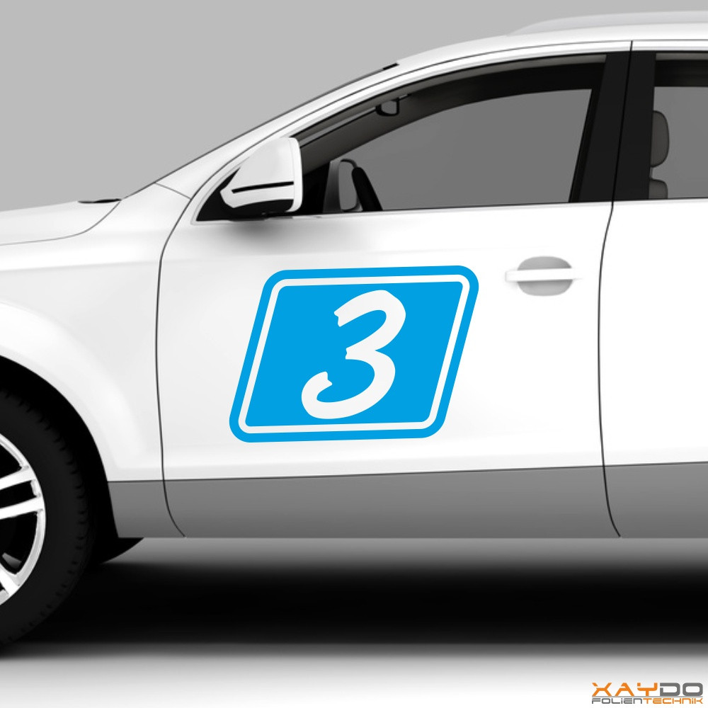 """Autoaufkleber Rennnummer """"Rally B"""""""