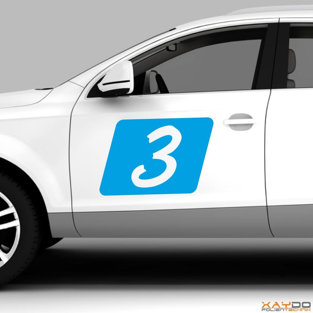 "Autoaufkleber Rennnummer ""Rally C"""