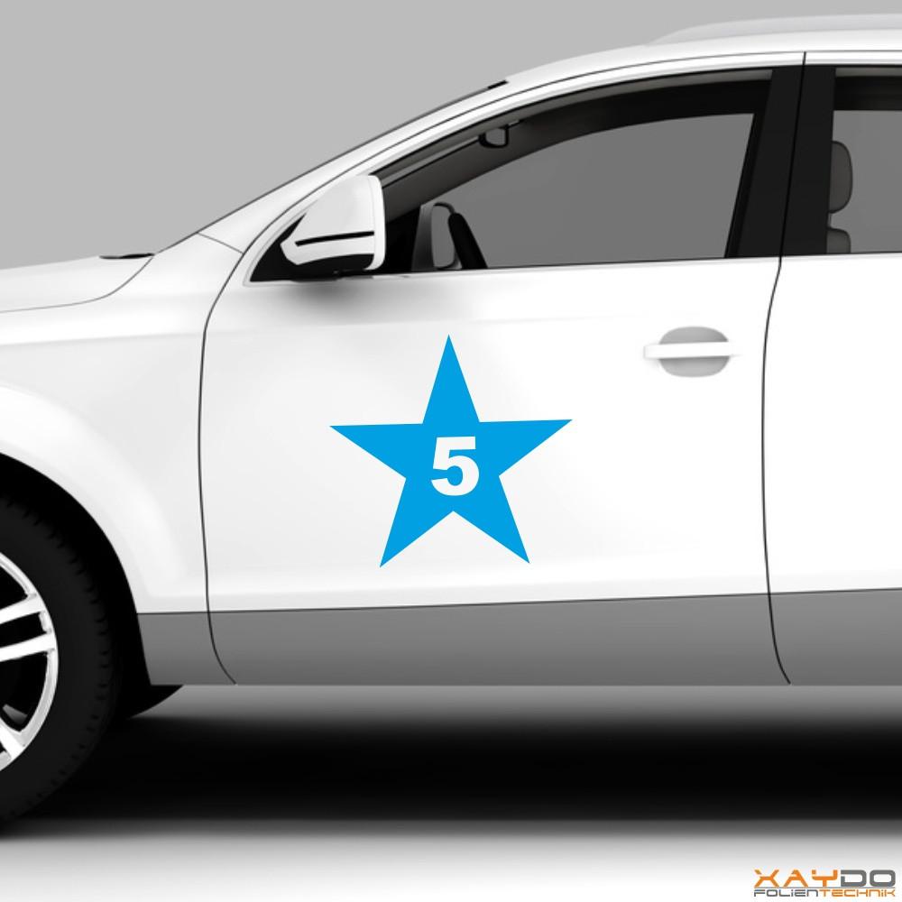 """Autoaufkleber Rennnummer """"Stern C"""""""