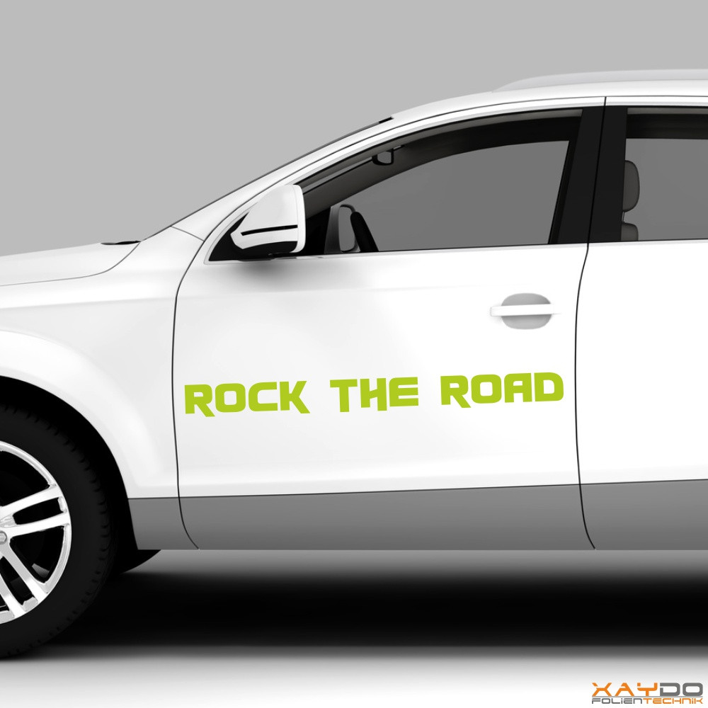 "Autoaufkleber ""Rock the Road"""