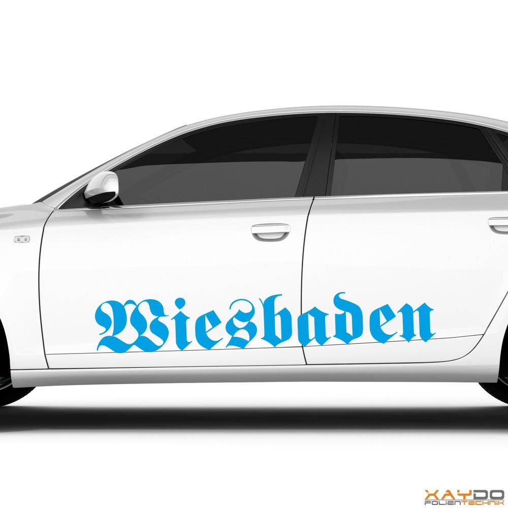 """Autoaufkleber """"Wiesbaden"""""""