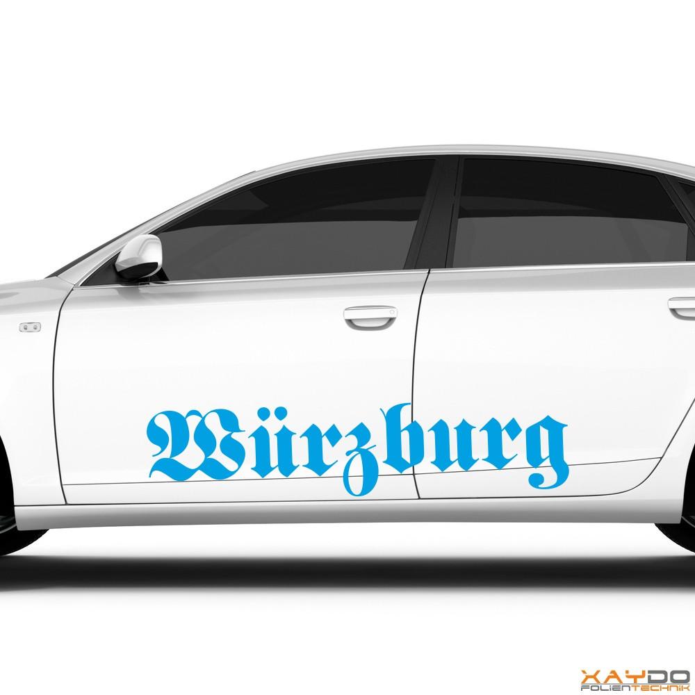 "Autoaufkleber ""Würzburg"""