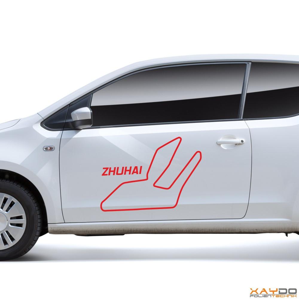 """Autoaufkleber """"Zhuhai"""""""