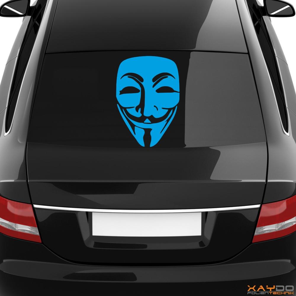 "Heckscheibenaufkleber Symbol ""Guy Fawkes"""