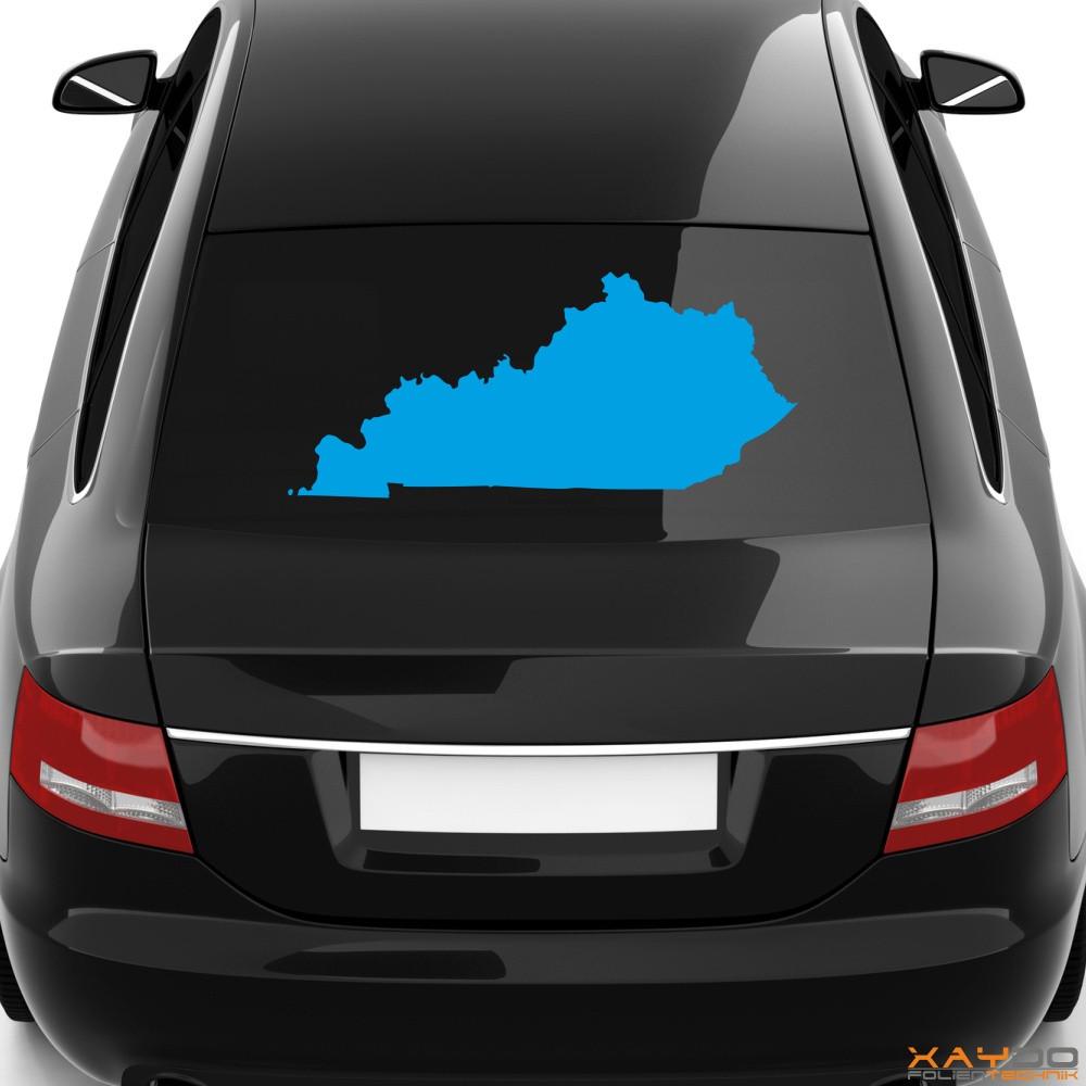 """Heckscheibenaufkleber """"Kentucky"""""""