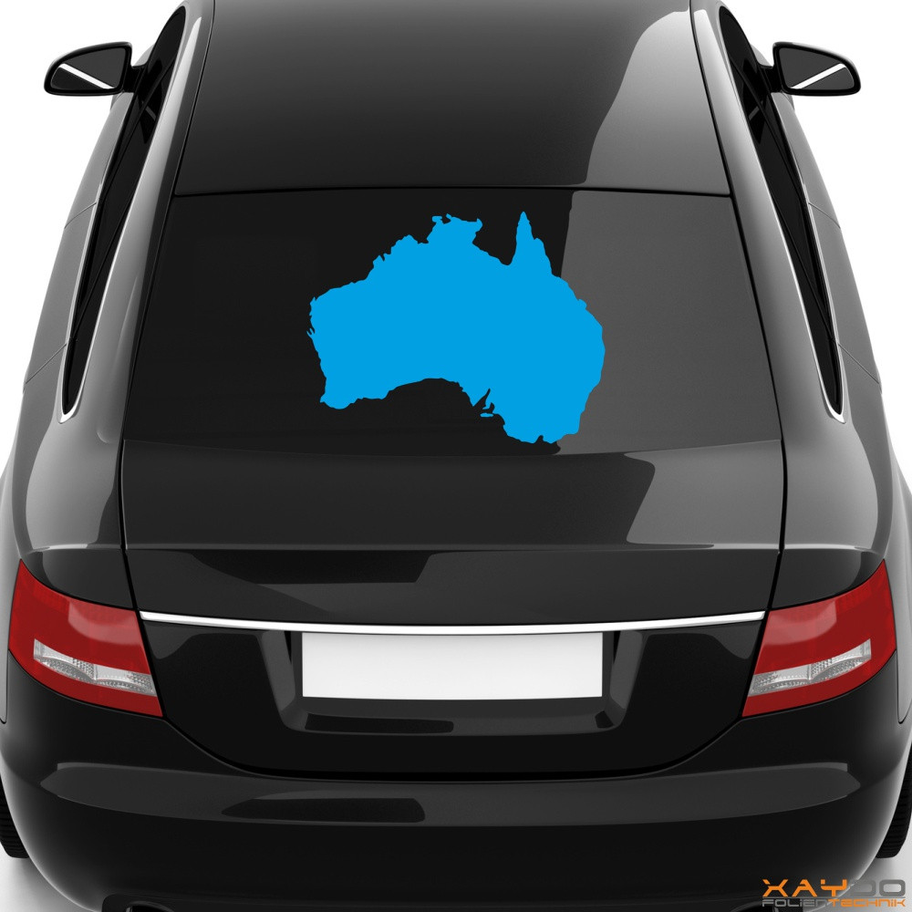 "Heckscheibenaufkleber ""Australien"""