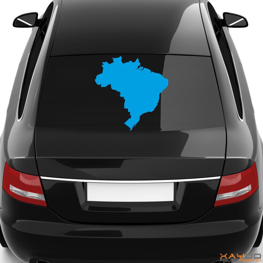 "Heckscheibenaufkleber ""Brasilien"""