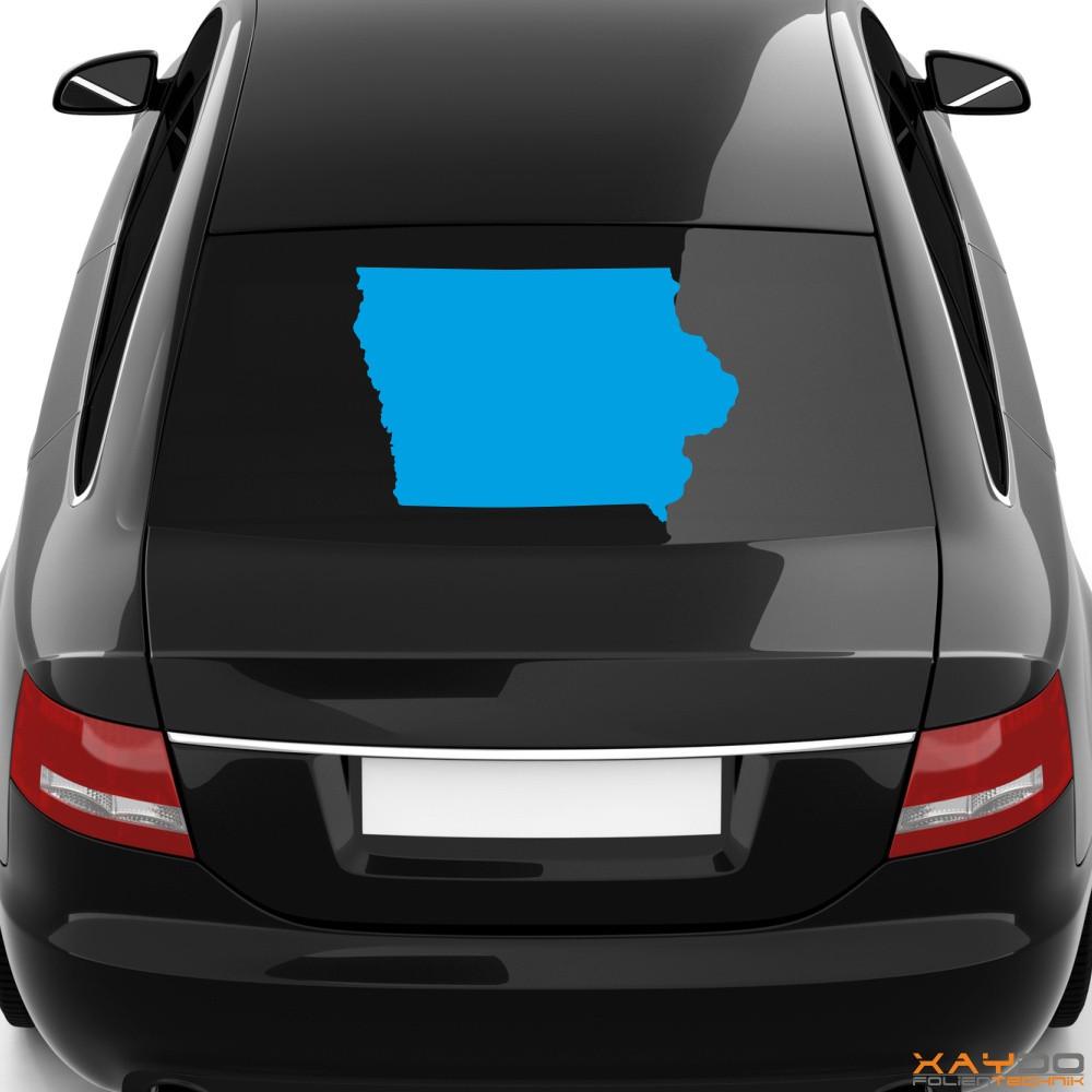 "Heckscheibenaufkleber ""Iowa"""