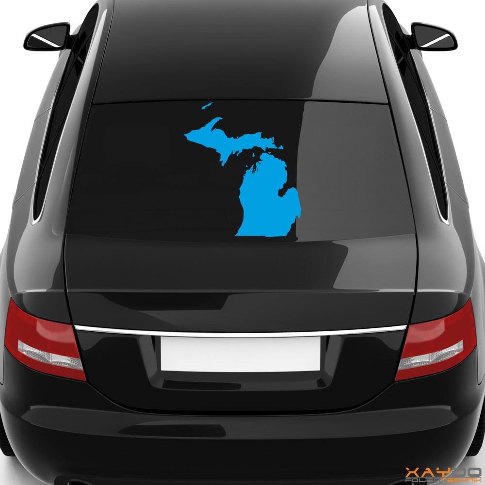 """Heckscheibenaufkleber """"Michigan"""""""