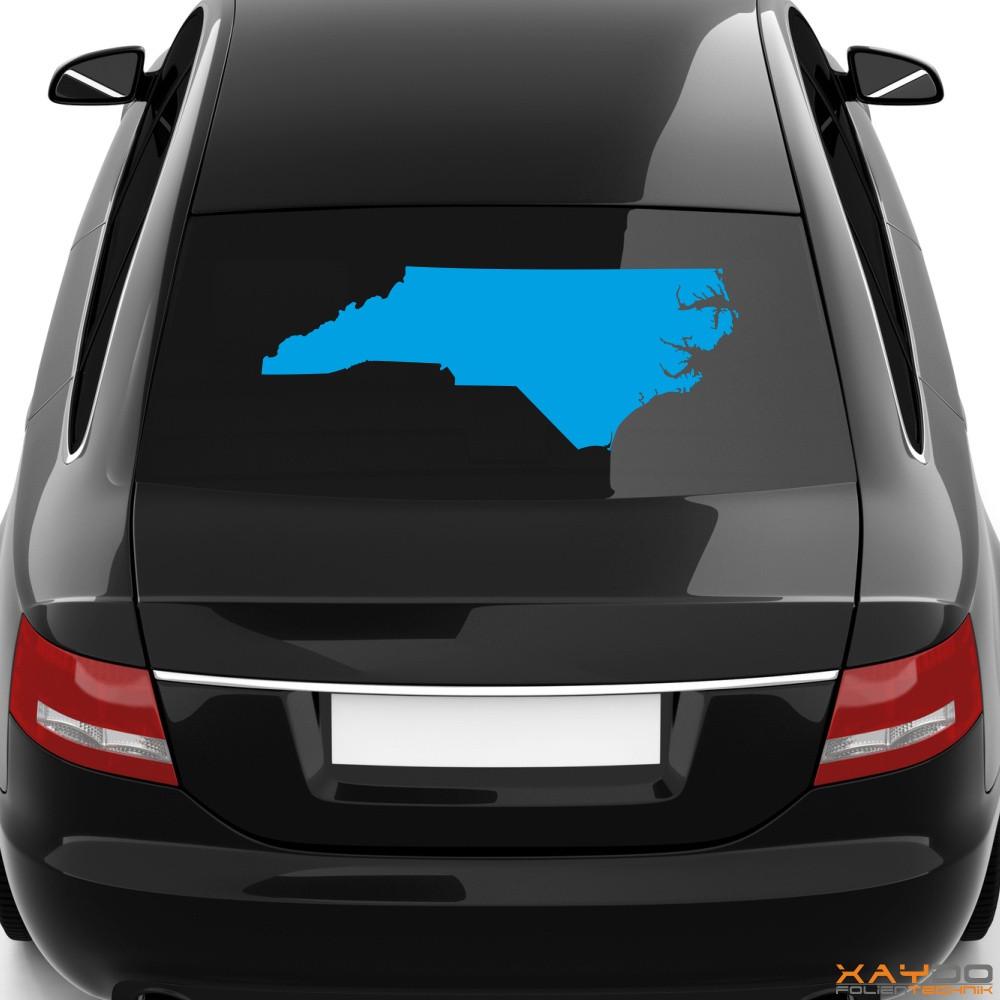 """Heckscheibenaufkleber """"North Carolina"""""""