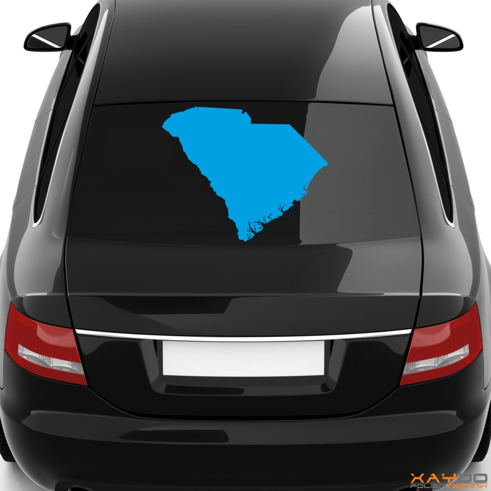 "Heckscheibenaufkleber ""South Carolina"""