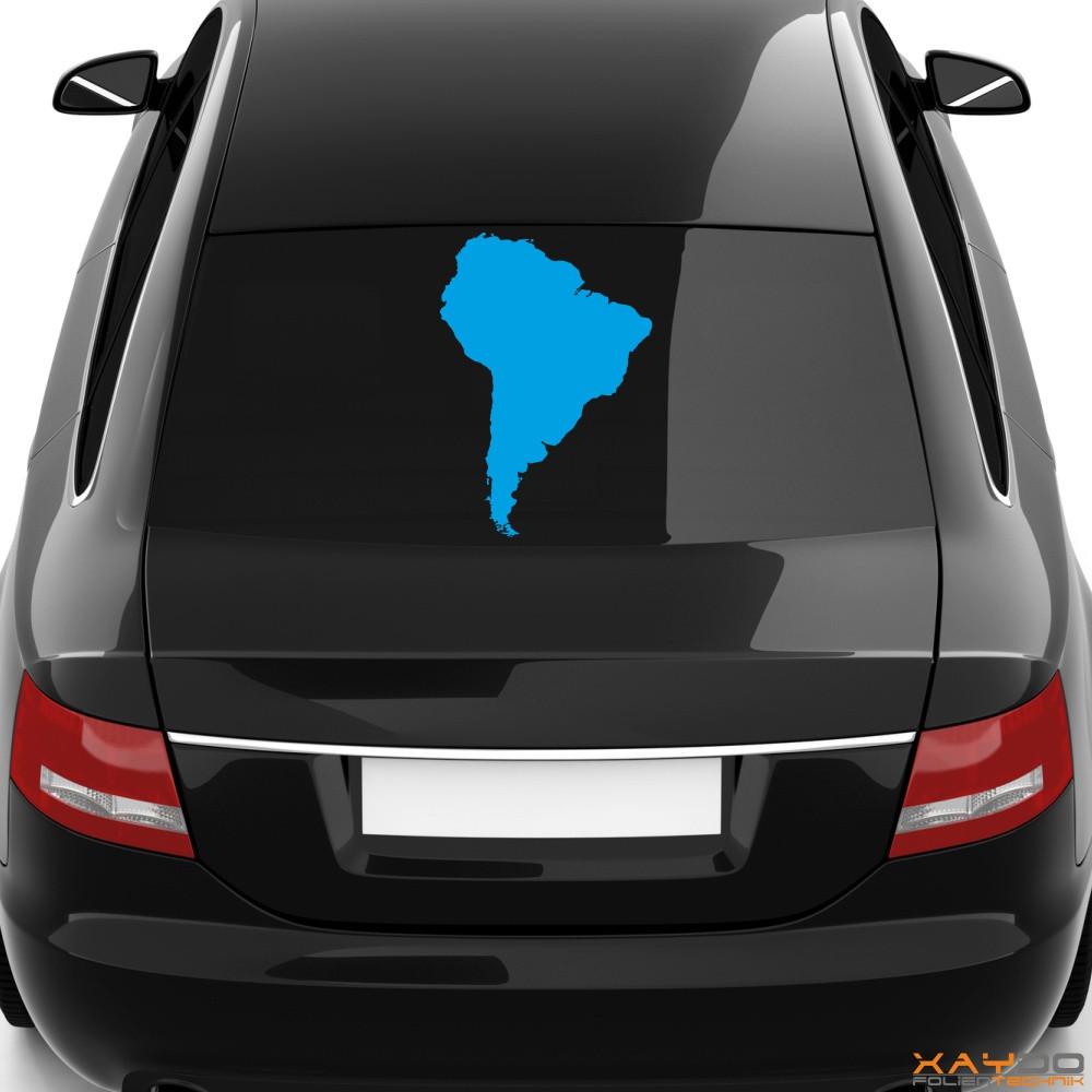 "Heckscheibenaufkleber ""Südamerika"""