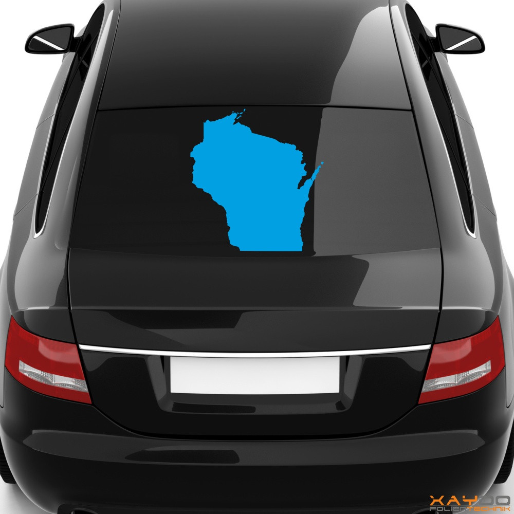 "Heckscheibenaufkleber ""Wisconsin"""
