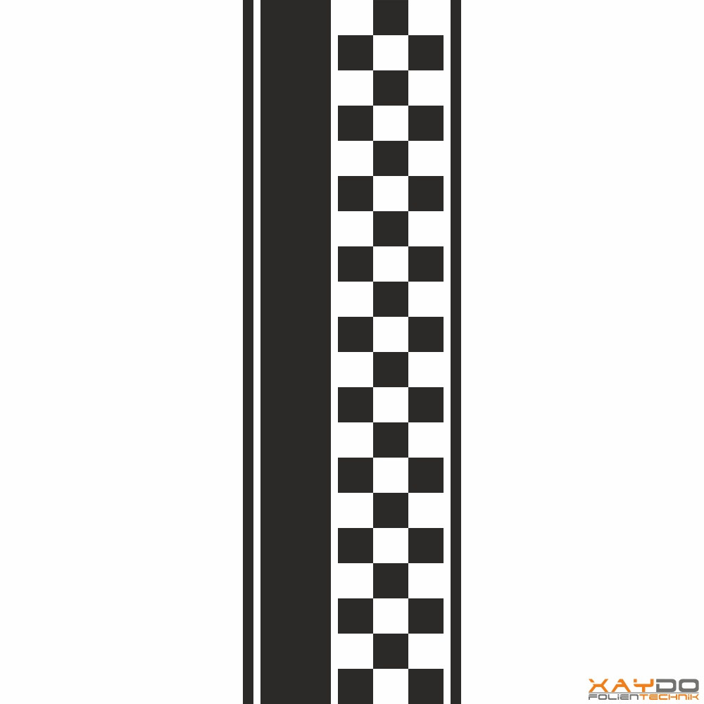"""Rennstreifen """"Flagge D"""" - 3er/31cm"""