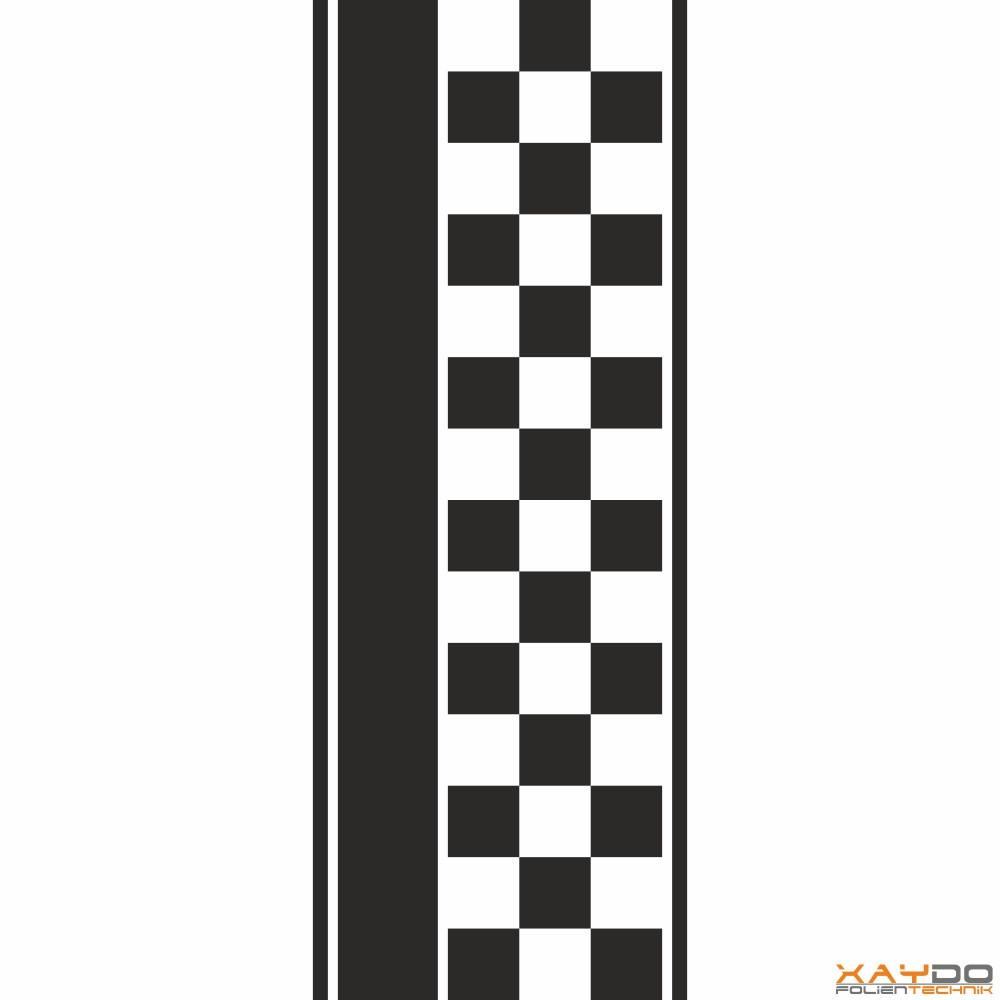 """Rennstreifen """"Flagge D"""" - 3er/37cm"""