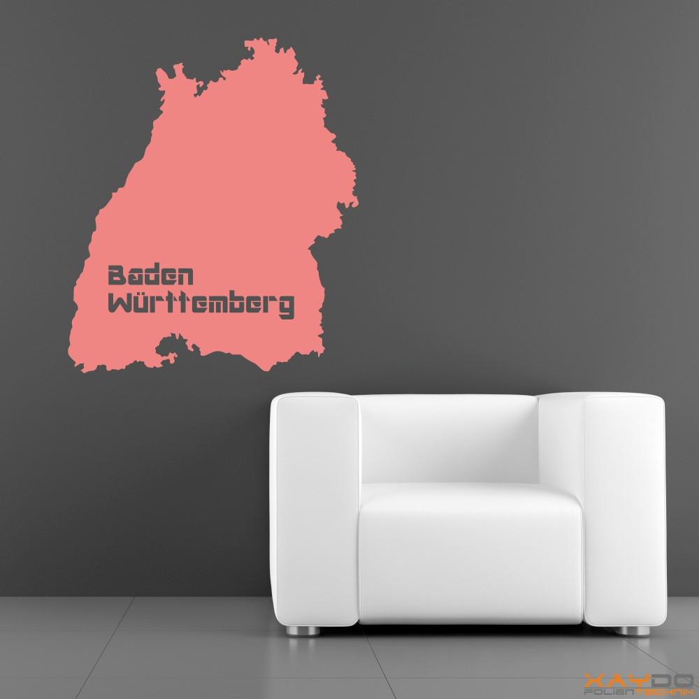 "Wandtattoo ""Baden-Württemberg"""