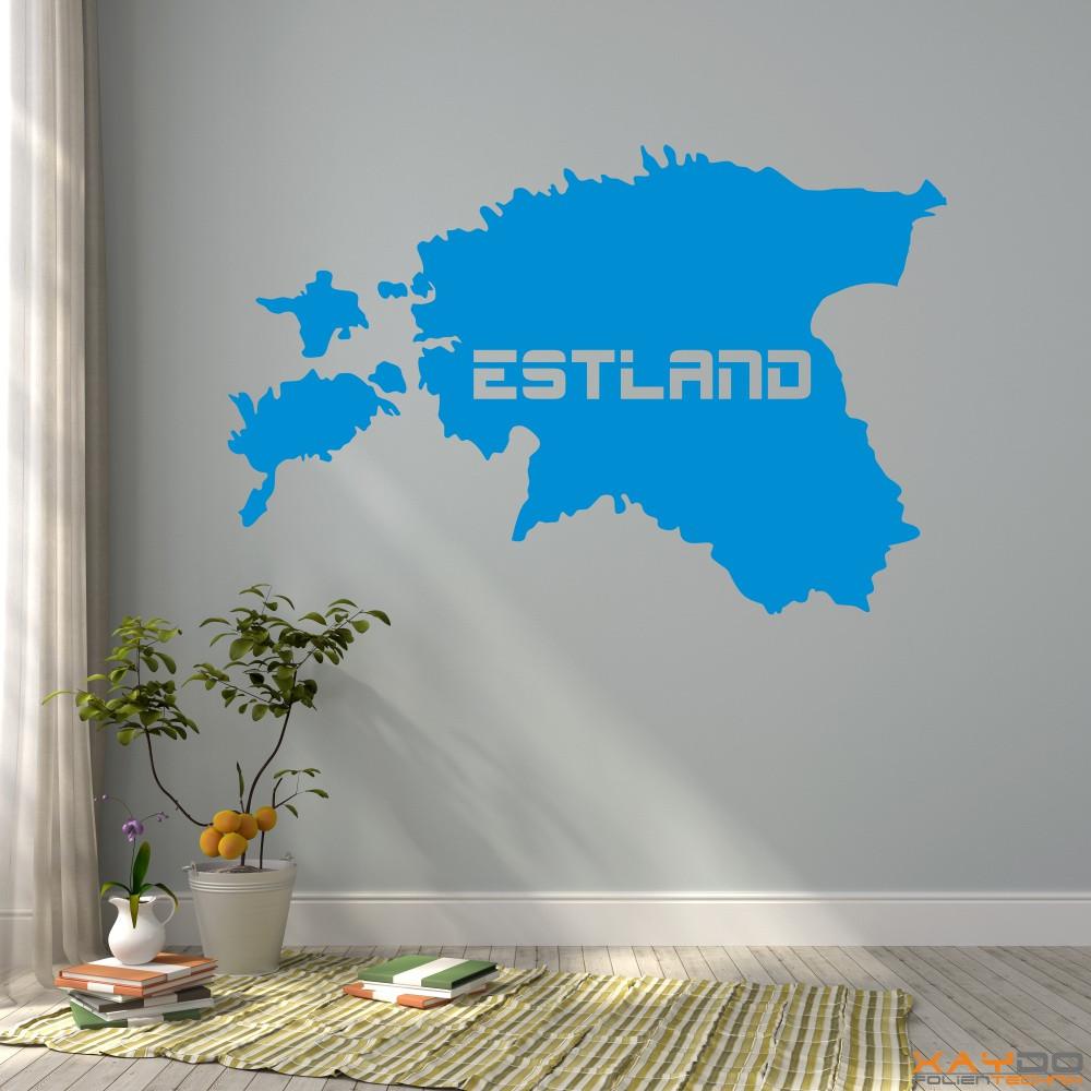 "Wandtattoo ""Estland"""