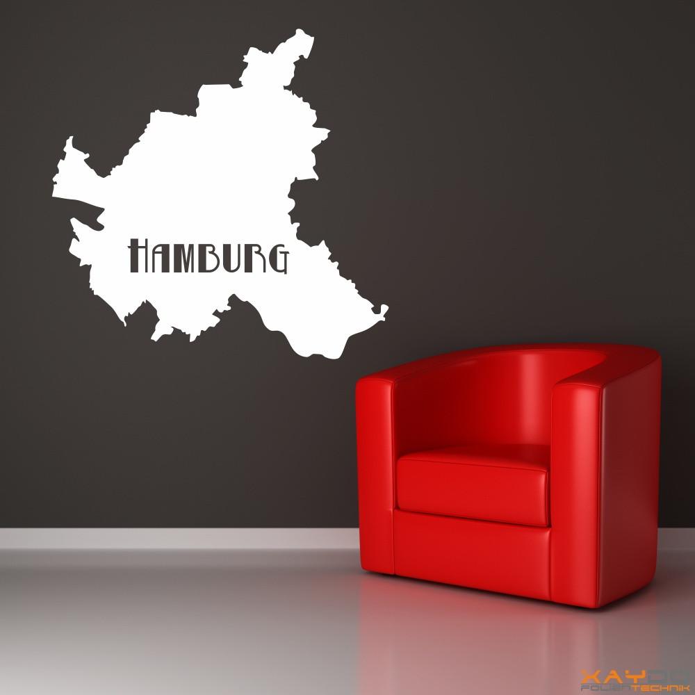 """Wandtattoo """"Hamburg"""""""