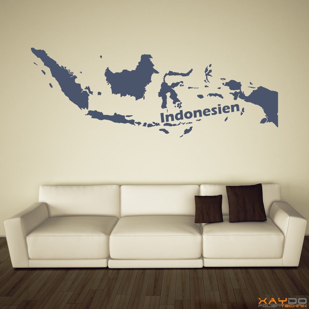 "Wandtattoo ""Indonesien"""