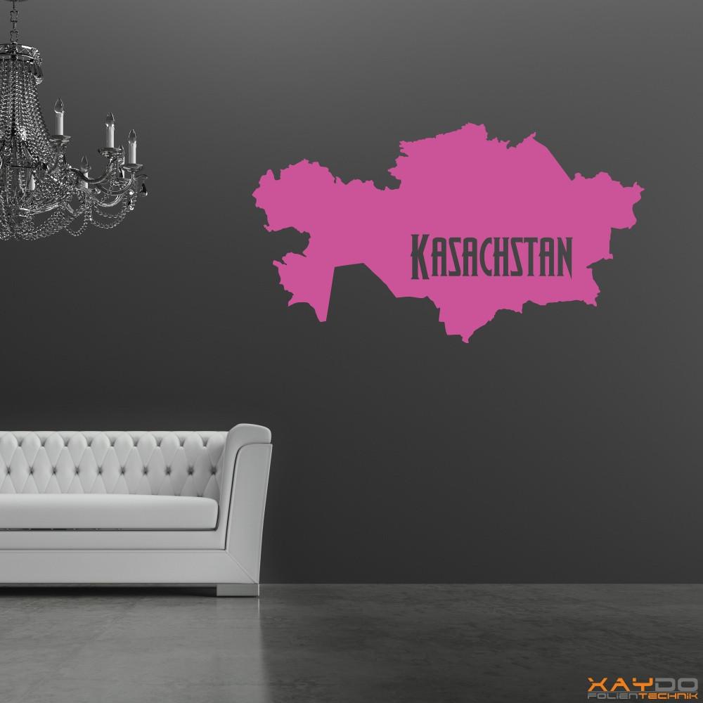 "Wandtattoo ""Kasachstan"""