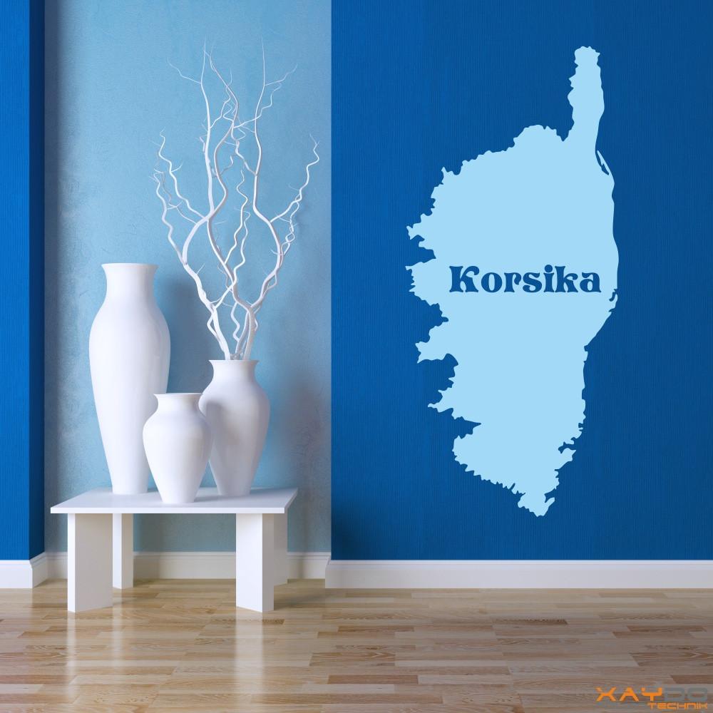 "Wandtattoo ""Korsika"""