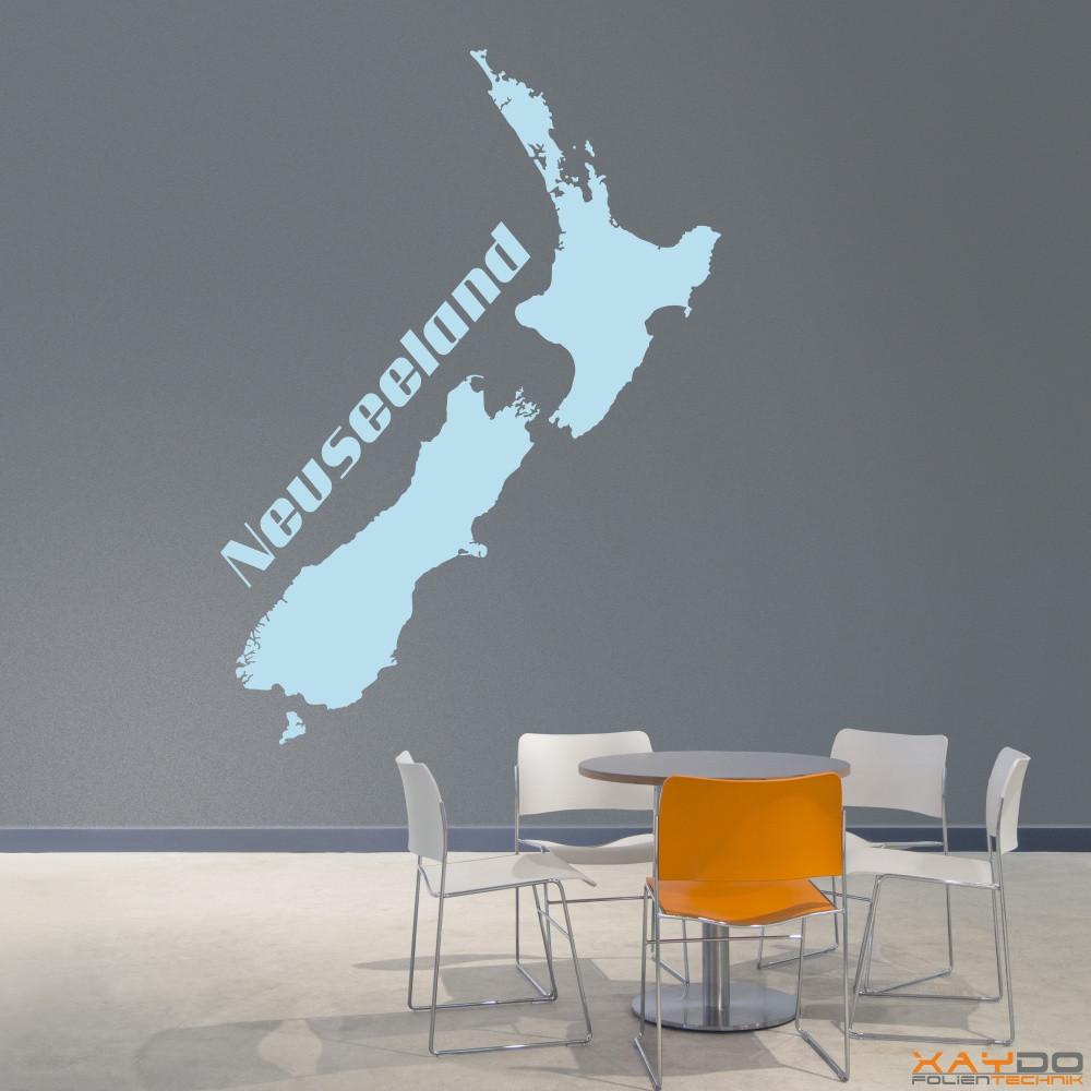 "Wandtattoo ""Neuseeland"""
