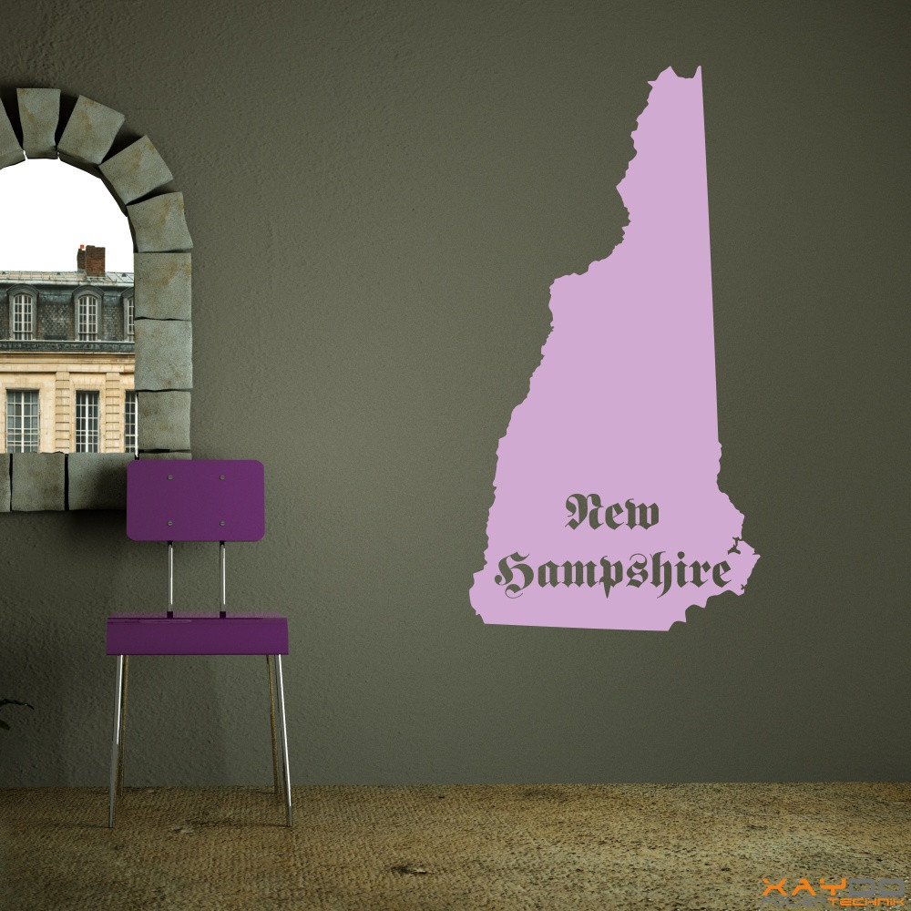 "Wandtattoo ""New Hampshire"""