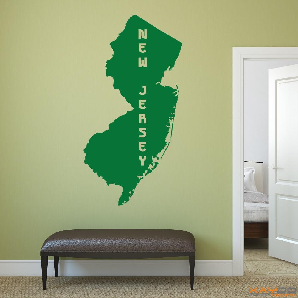 "Wandtattoo ""New Jersey"""