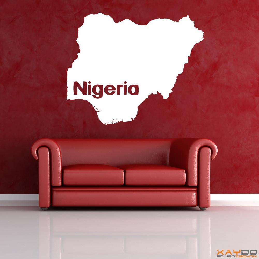 """Wandtattoo """"Nigeria"""""""