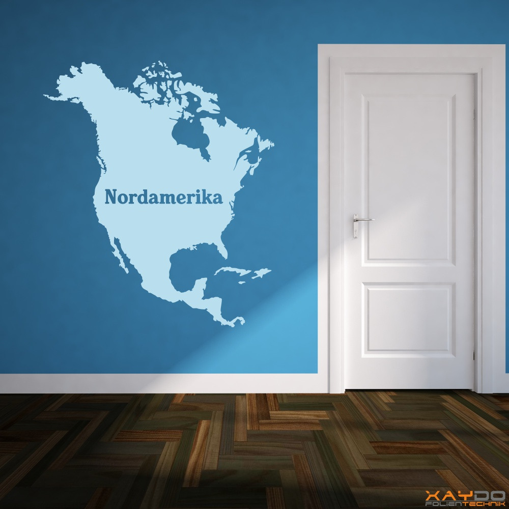 "Wandtattoo ""Nordamerika"""