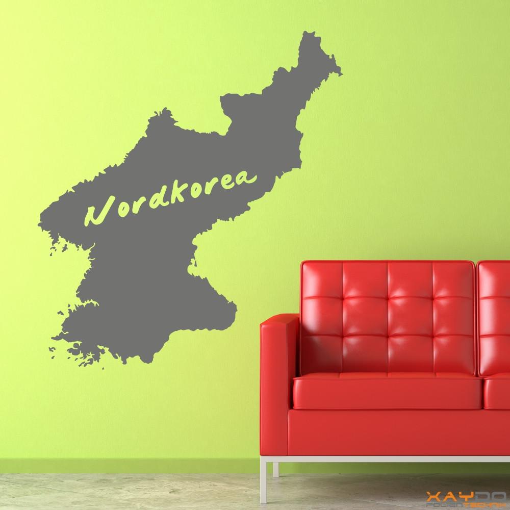 """Wandtattoo """"Nordkorea"""""""