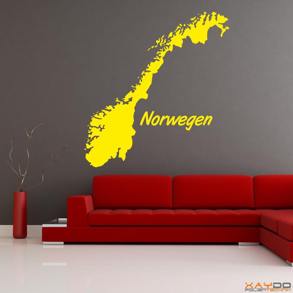 """Wandtattoo """"Norwegen"""""""