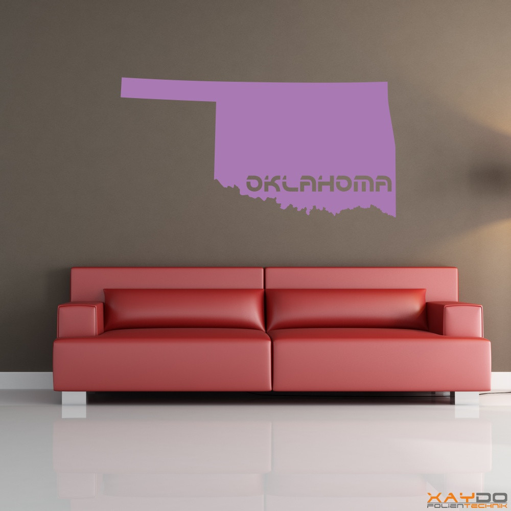 "Wandtattoo ""Oklahoma"""