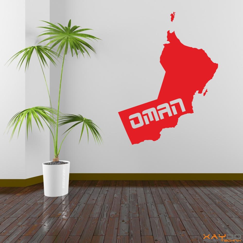 "Wandtattoo ""Oman"""