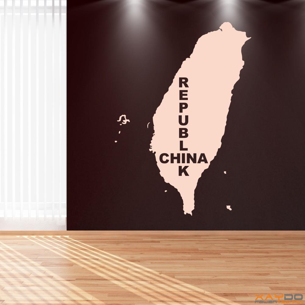 """Wandtattoo """"Republik China"""""""