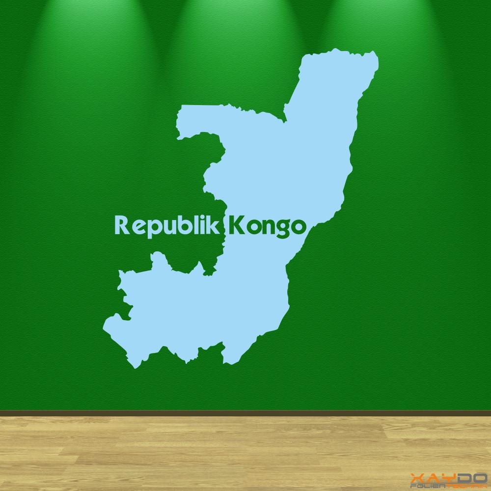 """Wandtattoo """"Republik Kongo"""""""