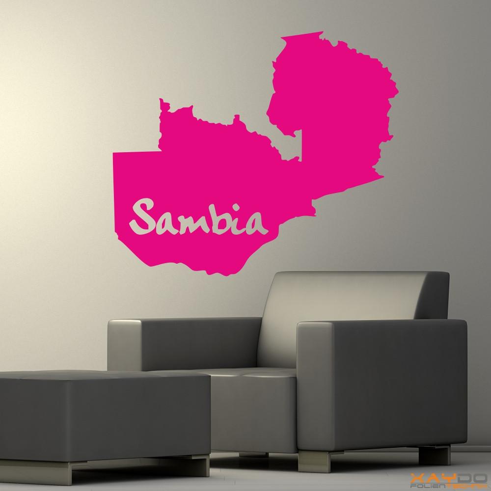 """Wandtattoo """"Sambia"""""""