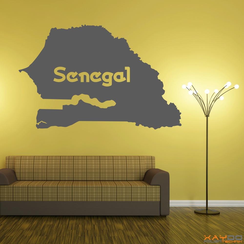 "Wandtattoo ""Senegal"""