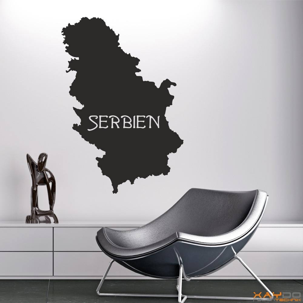 "Wandtattoo ""Serbien"""